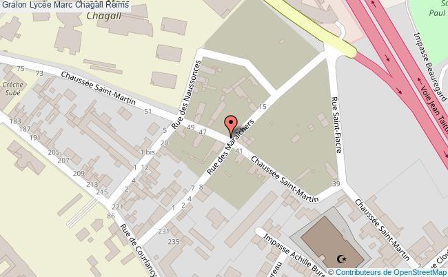 plan Lycée Marc Chagall Reims Reims