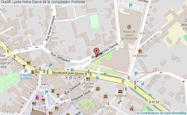 plan Lycée Notre-dame De La Compassion Pontoise Pontoise