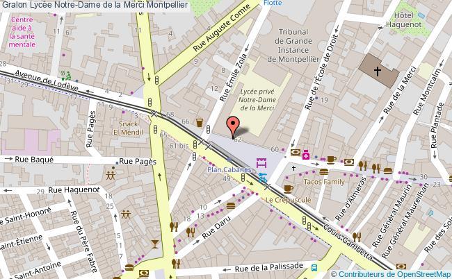 plan Lycée Notre-dame De La Merci Montpellier Montpellier