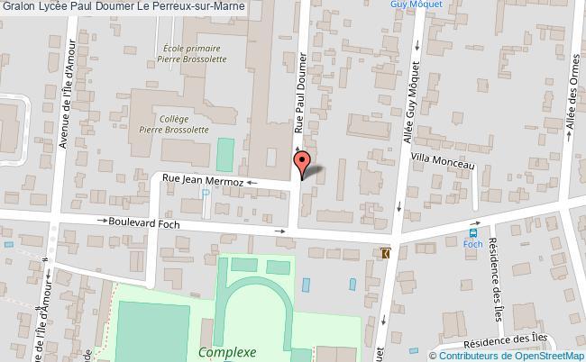 plan Lycée Paul Doumer Le Perreux-sur-marne Le Perreux-sur-Marne