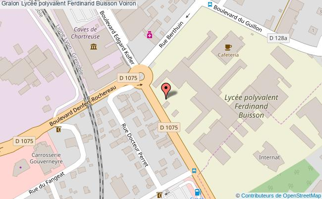 plan Lycée Polyvalent Ferdinand Buisson Voiron Voiron