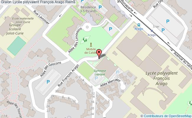 plan Lycée Polyvalent François Arago Reims Reims