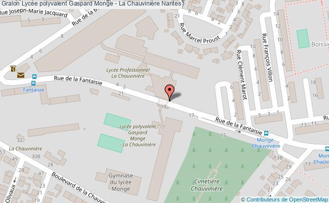 plan Lycée Polyvalent Gaspard Monge - La Chauvinière Nantes Nantes