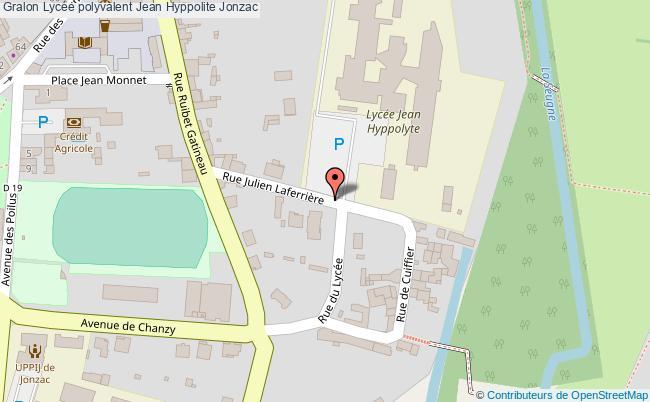 plan Lycée Polyvalent Jean Hyppolite Jonzac Jonzac
