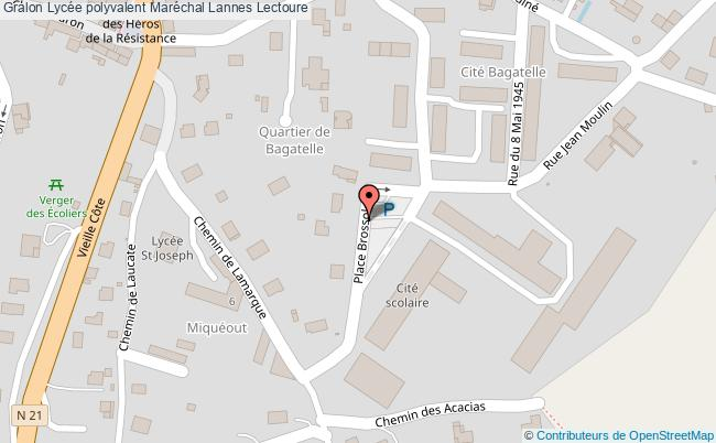 plan Lycée Polyvalent Maréchal Lannes Lectoure Lectoure