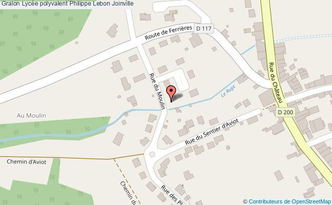 plan Lycée Polyvalent Philippe Lebon Joinville Joinville