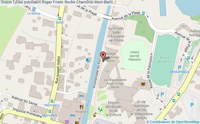 plan Lycée Polyvalent Roger Frison Roche Chamonix-mont-blanc Chamonix-Mont-Blanc