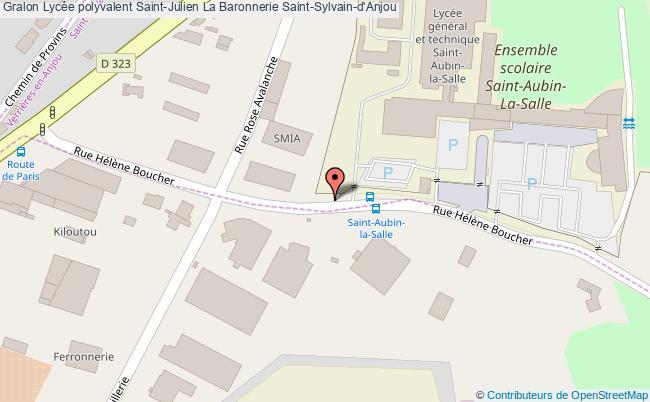 plan Lycée Polyvalent Saint-julien La Baronnerie Saint-sylvain-d'anjou Saint-Sylvain-d'Anjou