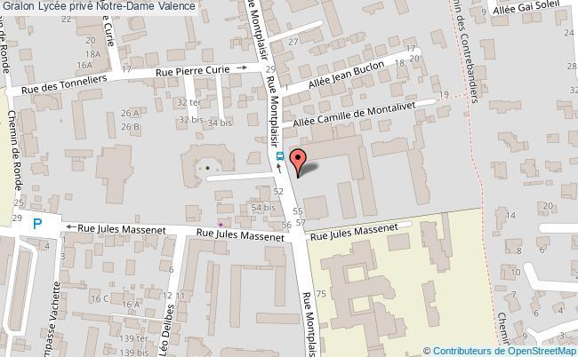 plan Lycée Privé Notre-dame Valence Valence