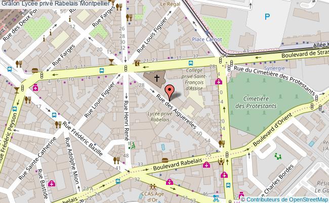 plan Lycée Privé Rabelais Montpellier Montpellier