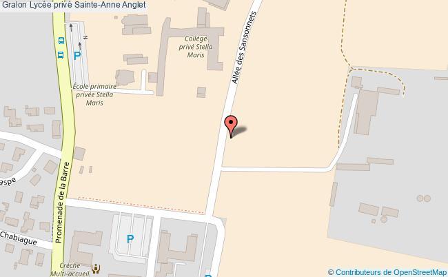 plan Lycée Privé Sainte-anne Anglet Anglet