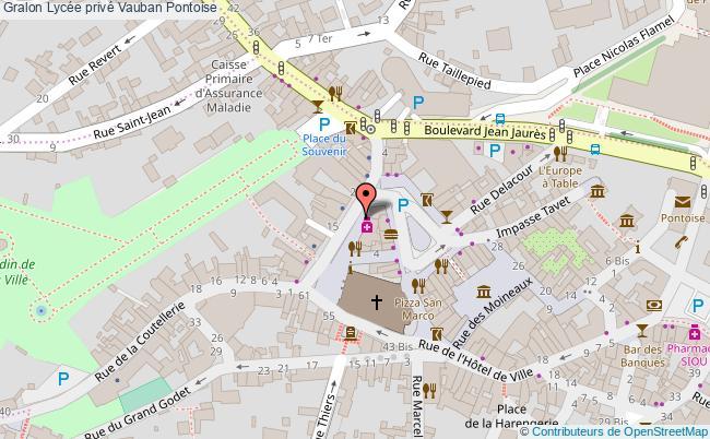 plan Lycée Privé Vauban Pontoise Pontoise