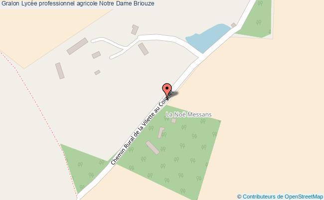 plan Lycée Professionnel Agricole Notre Dame Briouze Briouze