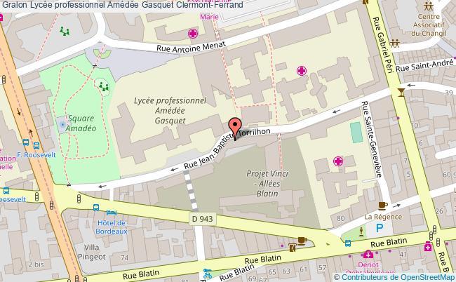 plan Lycée Professionnel Amédée Gasquet Clermont-ferrand Clermont-Ferrand