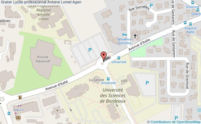 plan Lycée Professionnel Antoine Lomet Agen Agen