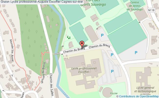 plan Lycée Professionnel Auguste Escoffier Cagnes-sur-mer Cagnes-sur-Mer