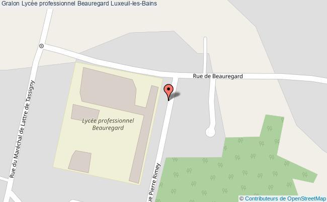 plan Lycée Professionnel Beauregard Luxeuil-les-bains Luxeuil-les-Bains
