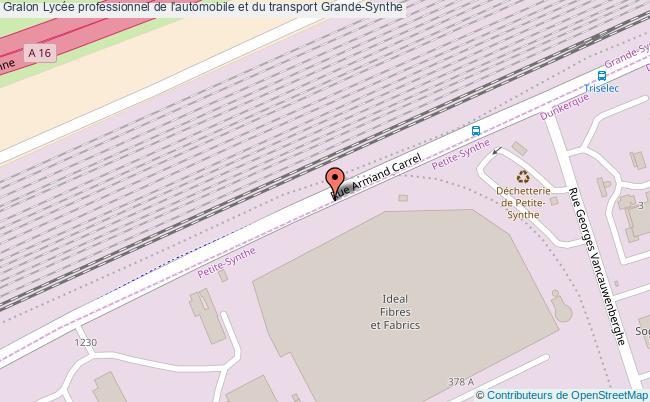 plan Lycée Professionnel De L'automobile Et Du Transport Grande-synthe Grande-Synthe