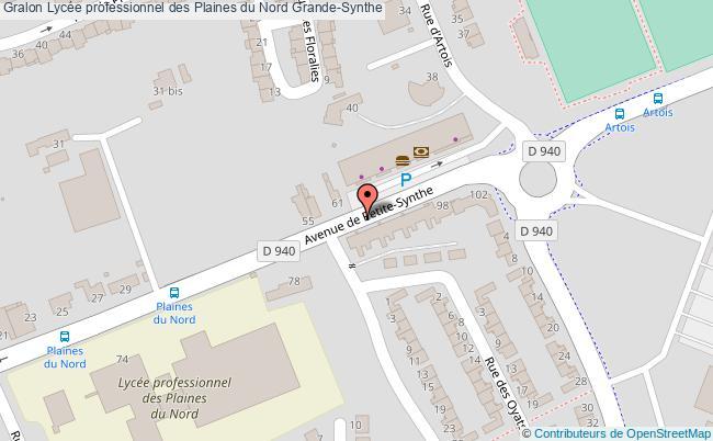 plan Lycée Professionnel Des Plaines Du Nord Grande-synthe Grande-Synthe