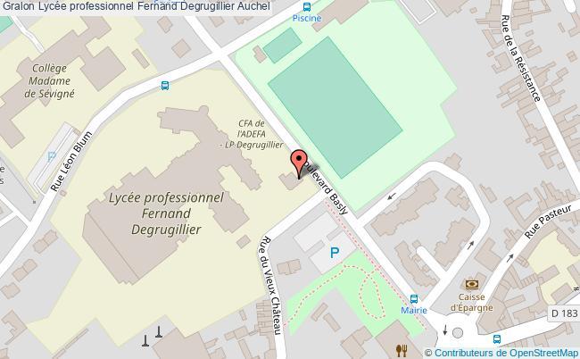 plan Lycée Professionnel Fernand Degrugillier Auchel Auchel