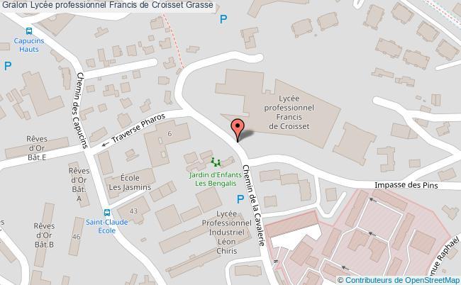plan Lycée Professionnel Francis De Croisset Grasse Grasse