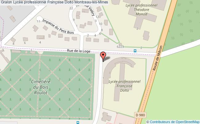 plan Lycée Professionnel Françoise Dolto Montceau-les-mines Montceau-les-Mines