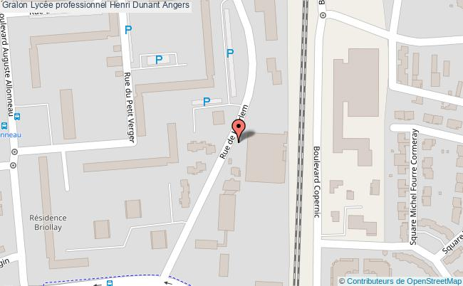 plan Lycée Professionnel Henri Dunant Angers Angers