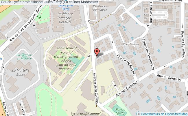 plan Lycée Professionnel Jules Ferry (la Colline) Montpellier Montpellier