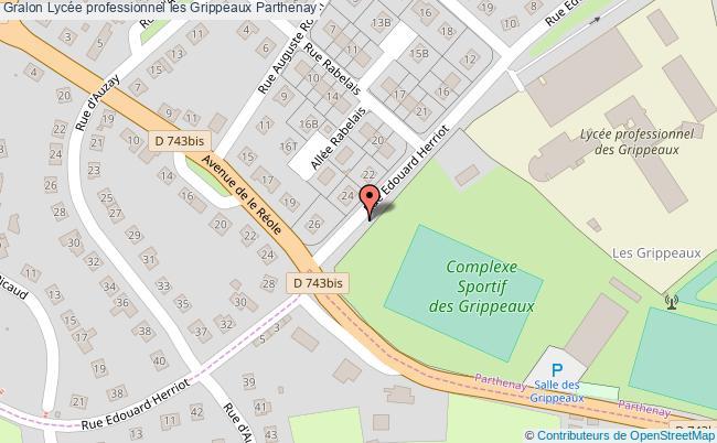 plan Lycée Professionnel Les Grippeaux Parthenay Parthenay