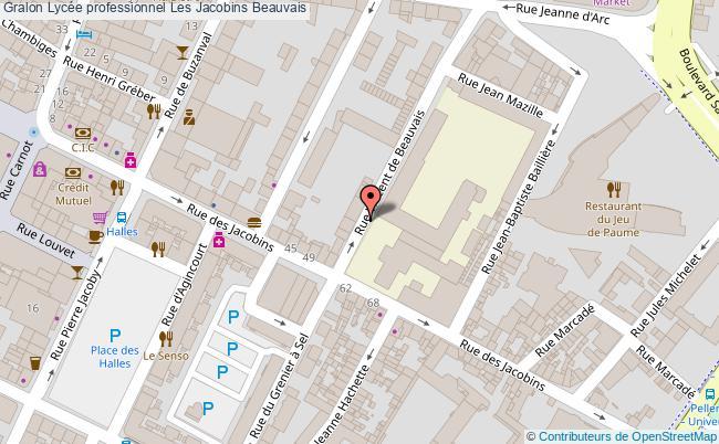 plan Lycée Professionnel Les Jacobins Beauvais Beauvais