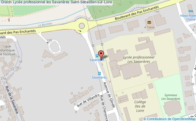 plan Lycée Professionnel Les Savarières Saint-sébastien-sur-loire Saint-Sébastien-sur-Loire