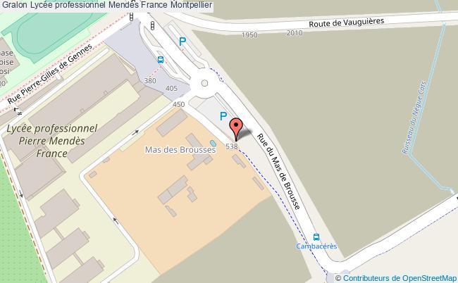 plan Lycée Professionnel Mendès France Montpellier Montpellier