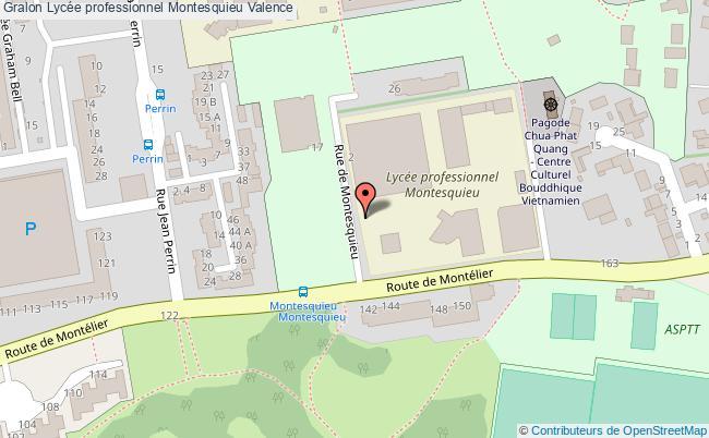 plan Lycée Professionnel Montesquieu Valence Valence
