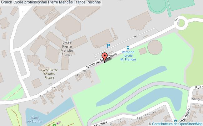 plan Lycée Professionnel Pierre Mendès France Péronne Péronne