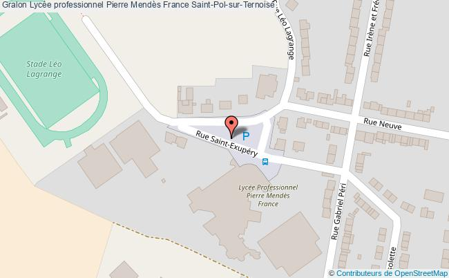 plan Lycée Professionnel Pierre Mendès France Saint-pol-sur-ternoise Saint-Pol-sur-Ternoise