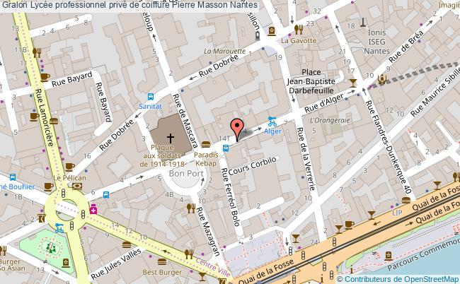 plan Lycée Professionnel Privé De Coiffure Pierre Masson Nantes Nantes