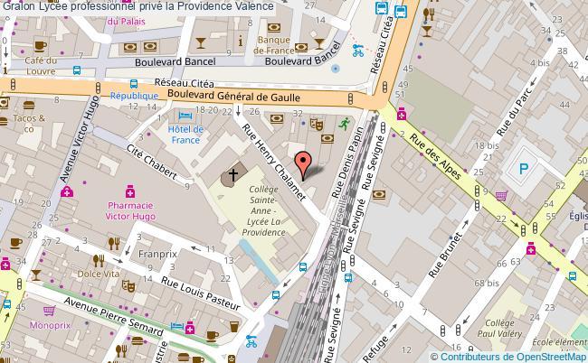 plan Lycée Professionnel Privé La Providence Valence Valence