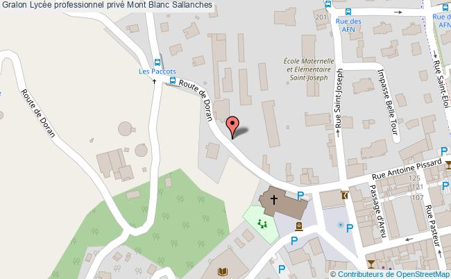 plan Lycée Professionnel Privé Mont Blanc Sallanches Sallanches