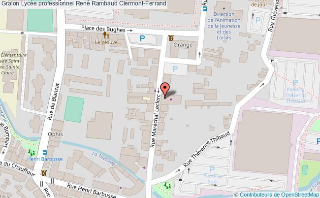 plan Lycée Professionnel René Rambaud Clermont-ferrand Clermont-Ferrand