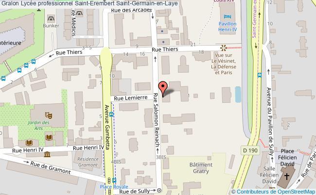 plan Lycée Professionnel Saint-erembert Saint-germain-en-laye Saint-Germain-en-Laye