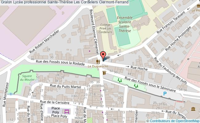plan Lycée Professionnel Sainte-thérèse Les Cordeliers Clermont-ferrand Clermont-Ferrand