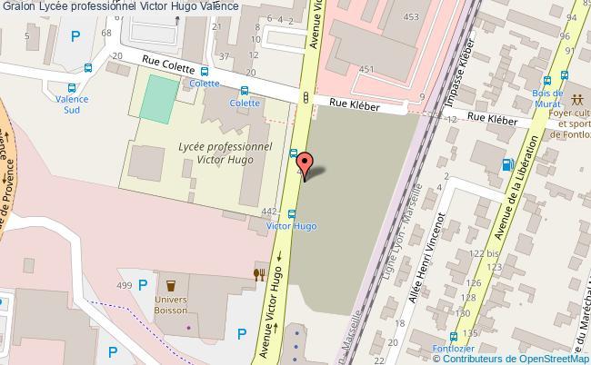 plan Lycée Professionnel Victor Hugo Valence Valence