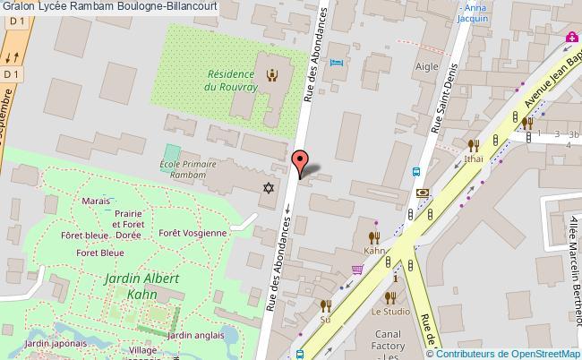 plan Lycée Rambam Boulogne-billancourt Boulogne-Billancourt