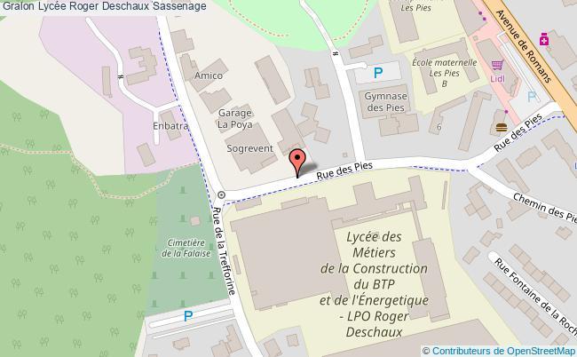 plan Lycée Roger Deschaux Sassenage Sassenage