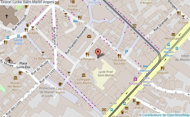 plan Lycée Saint-martin Angers Angers