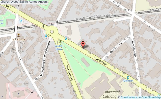 plan Lycée Sainte-agnès Angers Angers