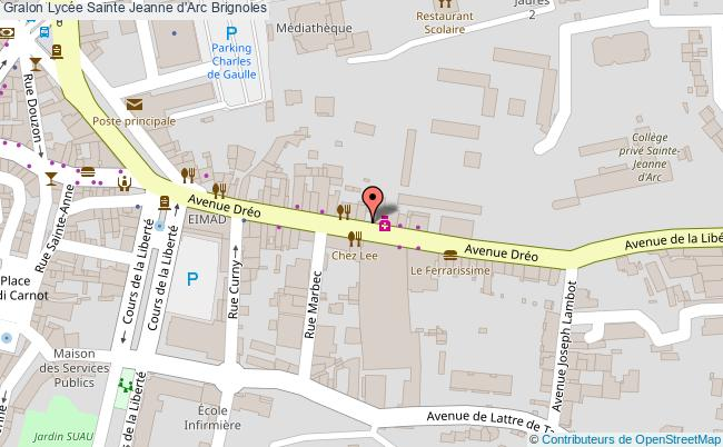 plan Lycée Sainte Jeanne D'arc Brignoles Brignoles