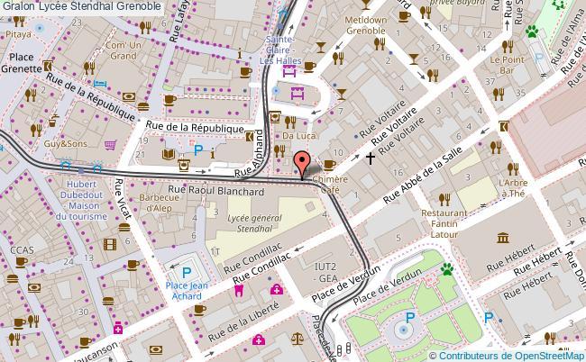plan Lycée Stendhal Grenoble Grenoble
