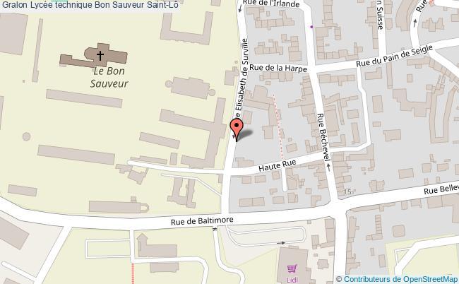 plan Lycée Technique Bon Sauveur Saint-lô Saint-Lô