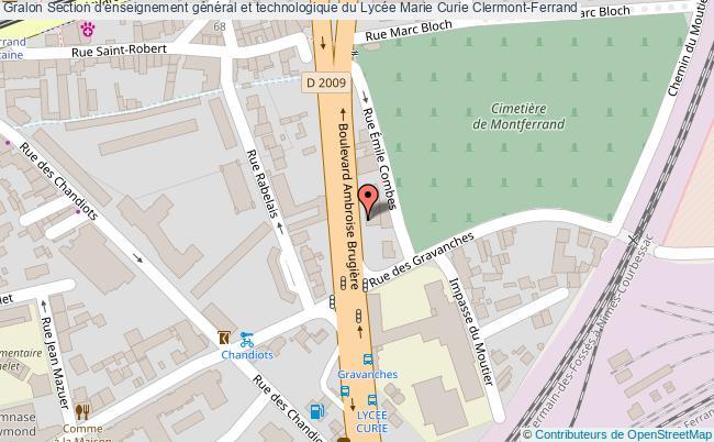 plan Section D'enseignement Général Et Technologique Du Lycée Marie Curie Clermont-ferrand Clermont-Ferrand